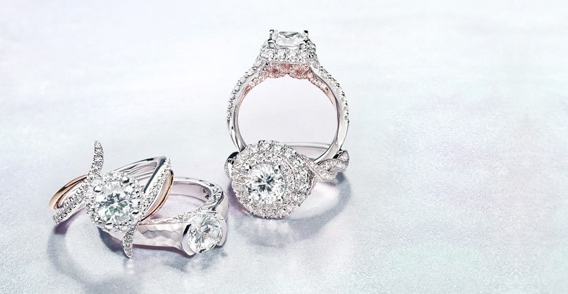 mounting round of by large amavida diamond rings collection gabriel engagement with platinum halo collections